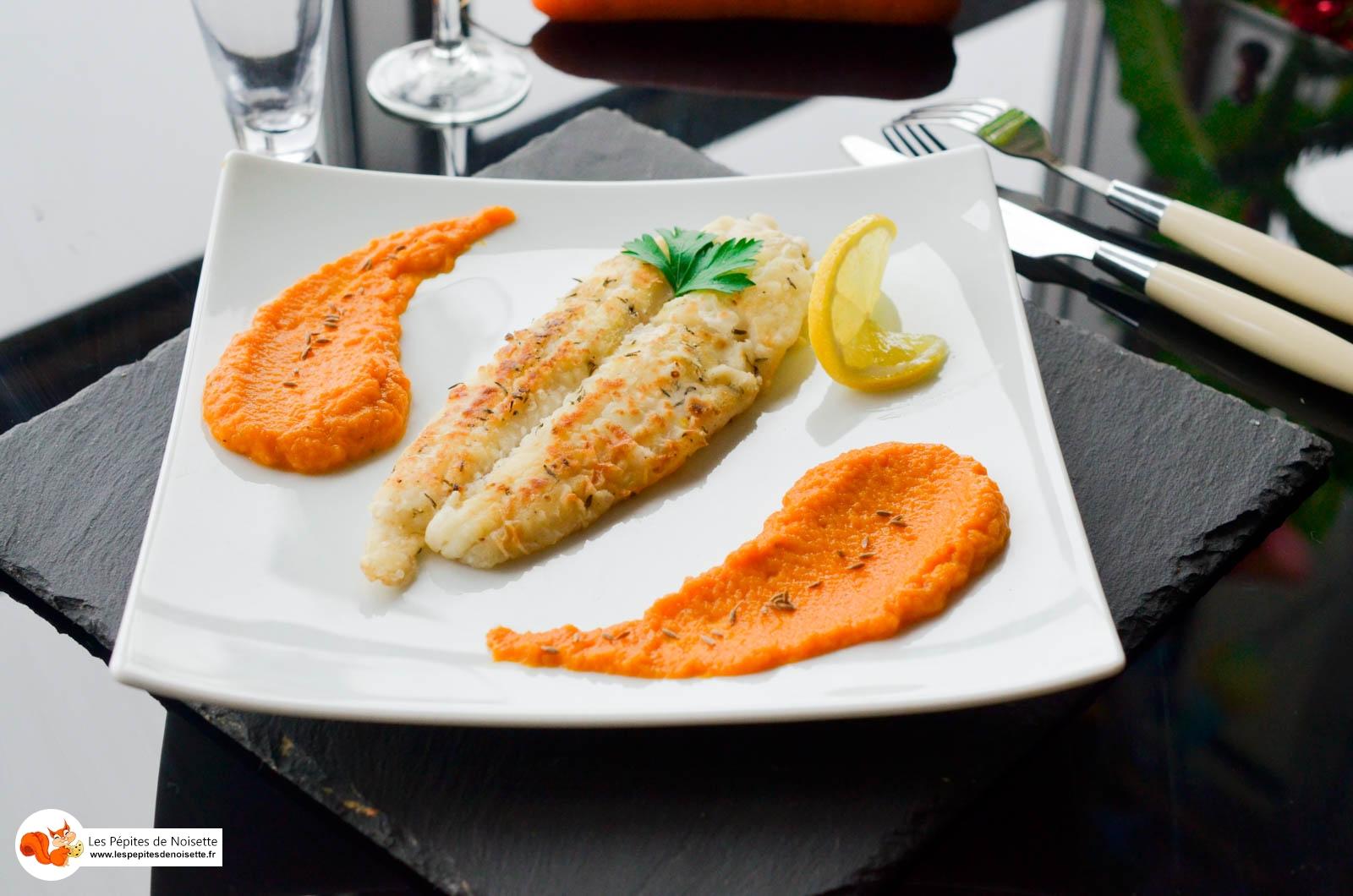 Filet de lieu jaune et sa pur e carottes cumin les p pites de noisette - Comment cuisiner le lieu jaune ...