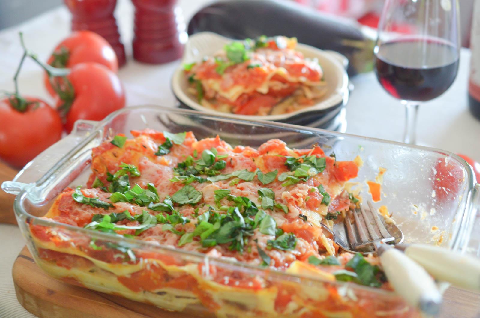 Lasagnes aux aubergines les p pites de noisette - Lasagne facile et rapide ...