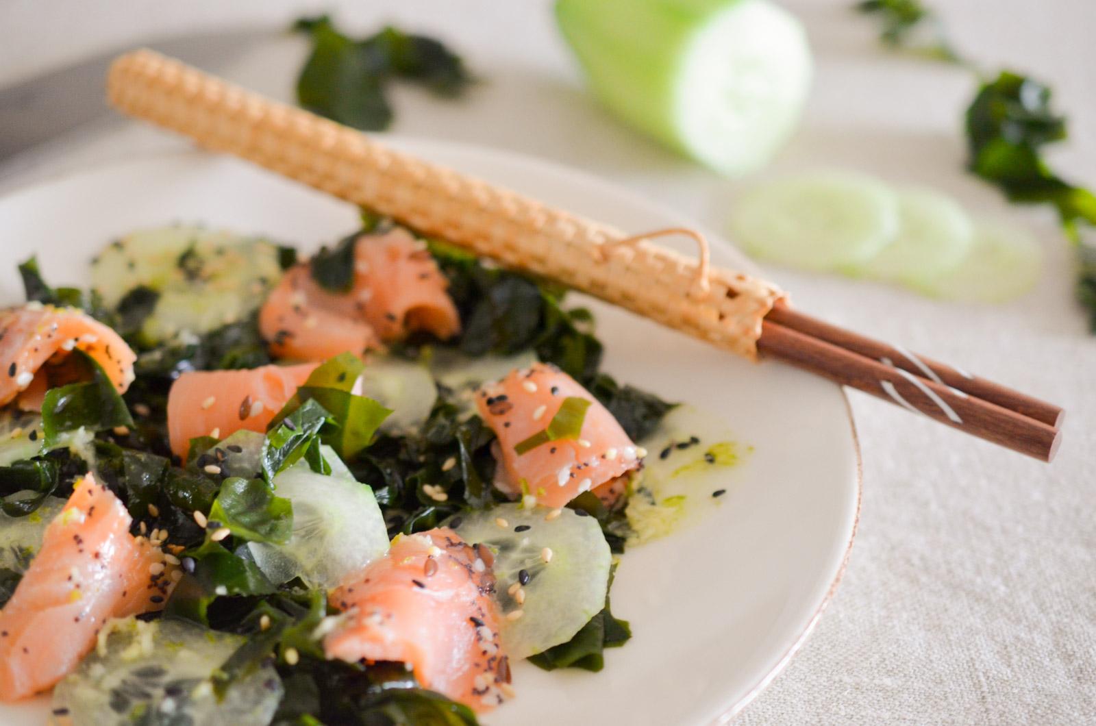 salade d algues au saumon les p pites de noisette. Black Bedroom Furniture Sets. Home Design Ideas