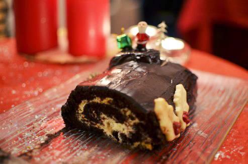 Bûche de Noël (ou roulé au chocolat)