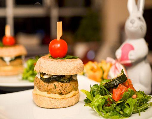 Muffin Burger Agneau Houmous 12