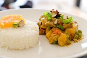 Curry d'agneau aux abricots