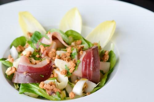 Salade de magret à la poire