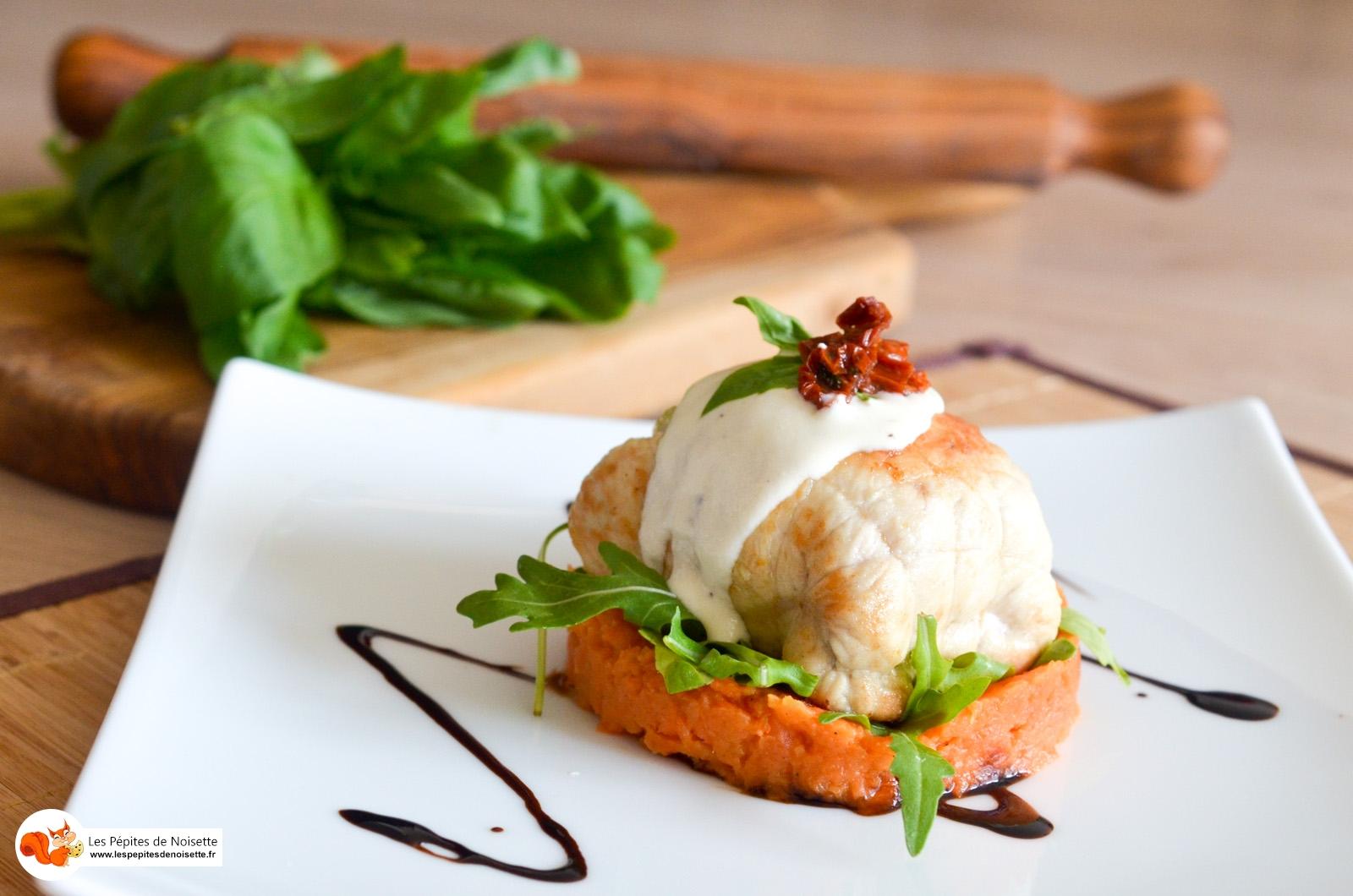 Ballotines de poulet au jambon cru à l'italienne