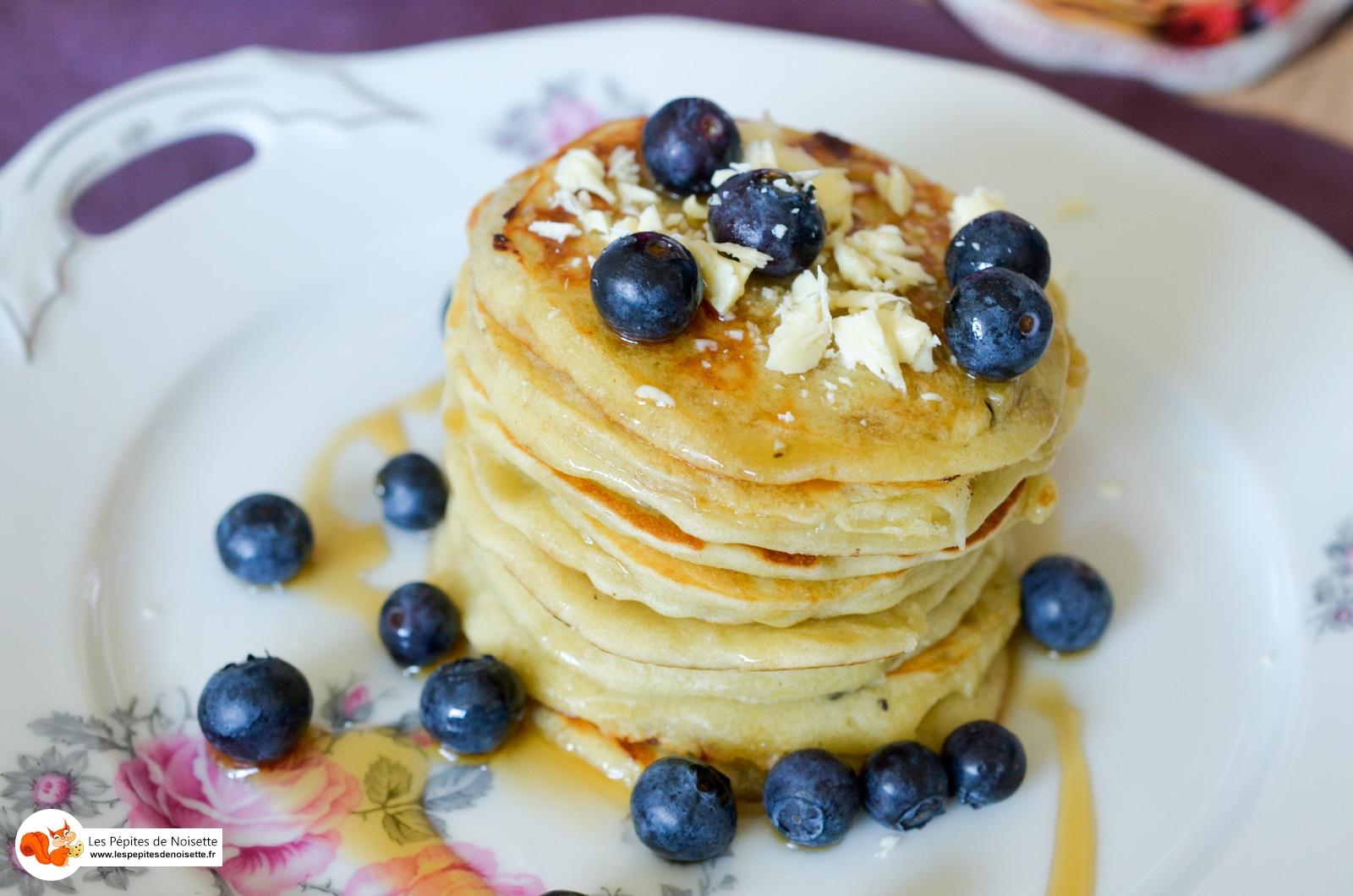 Pancake Chocolat Blanc Myrtilles Quai Sud (6 Sur 6)