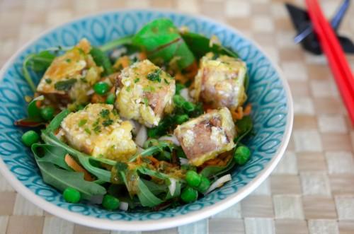 Salade de Tofu Fumé à l'érable