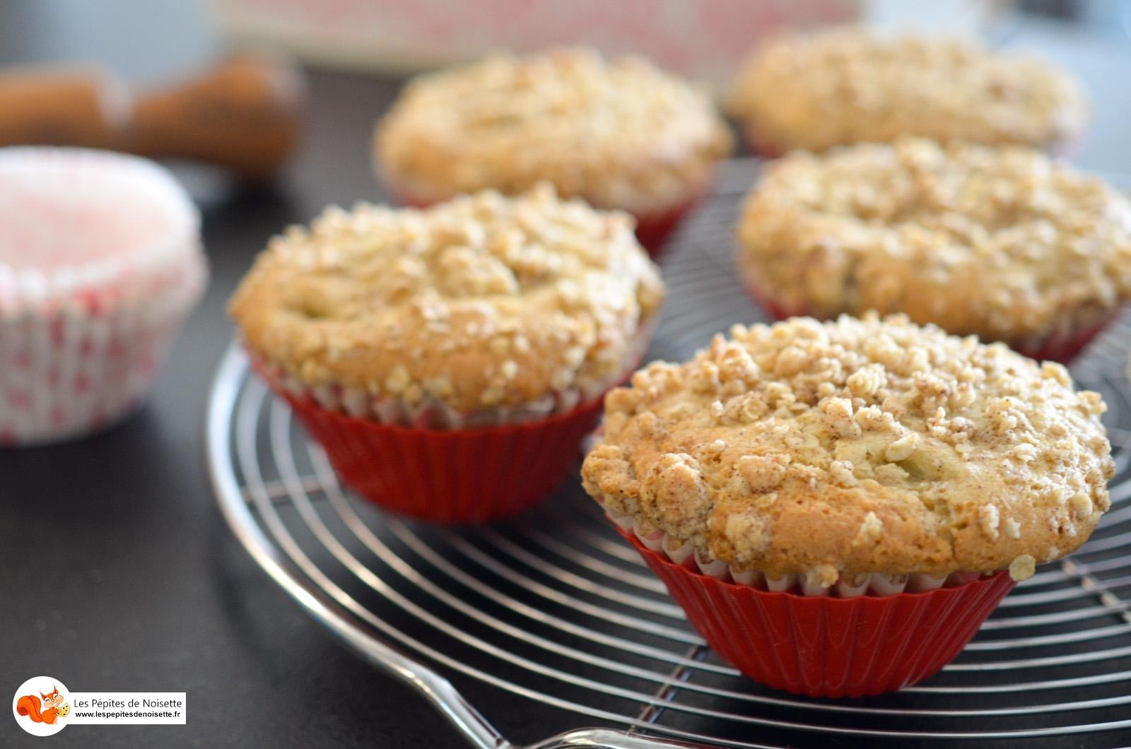 Muffin Rhubarbe Crumble Avoine (5 Sur 6)