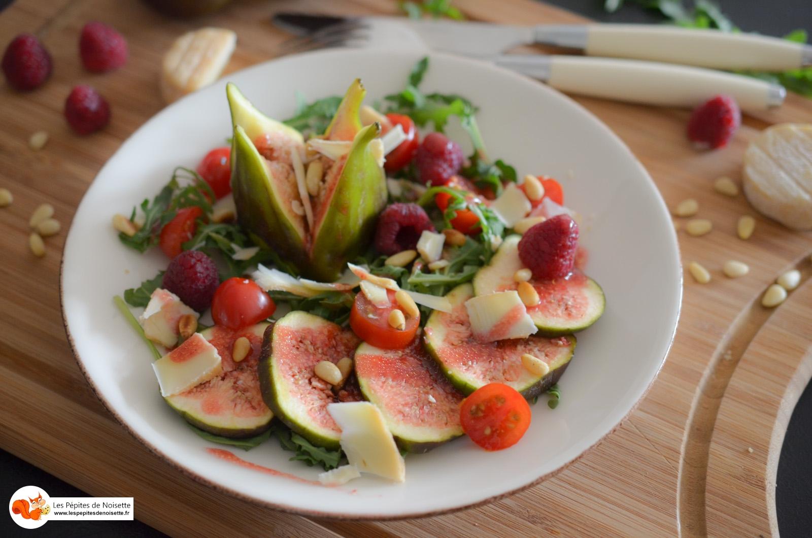 Salade Figue Picodon Vinaigrette Framboises (4 Sur 9)