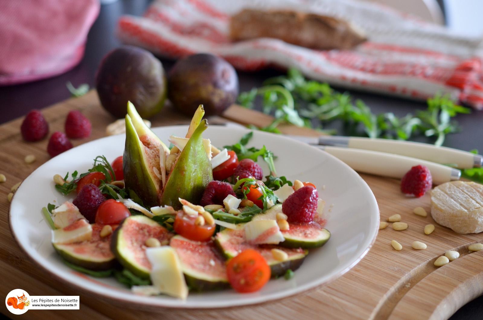 Salade Figue Picodon Vinaigrette Framboises (7 Sur 9)