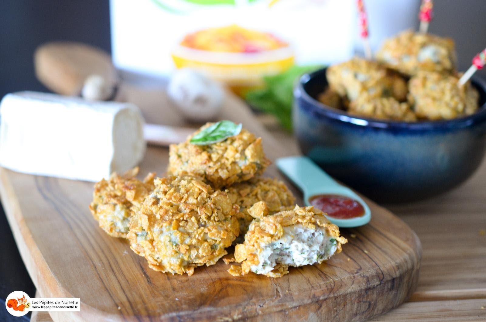 Nuggets Poulet Champignon Chèvre Corn Flakes Sans Gluten (11 Sur 12)
