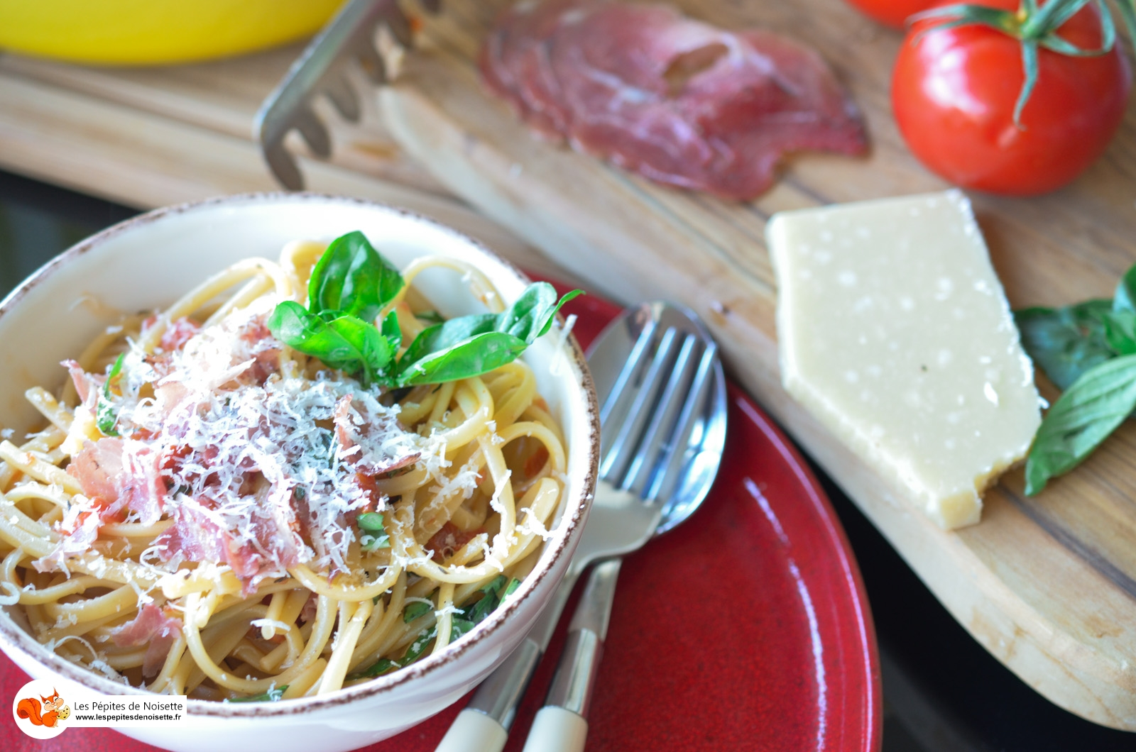 One Pot Pasta Italienne Tomate Pancetta Basilic Parmesan (7 Sur 9)
