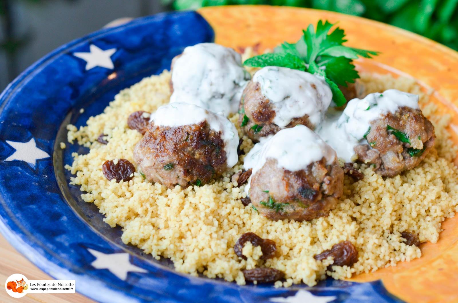 Boulettes Sauce Yaourt Menthe Semoule Curry (11 Sur 11)