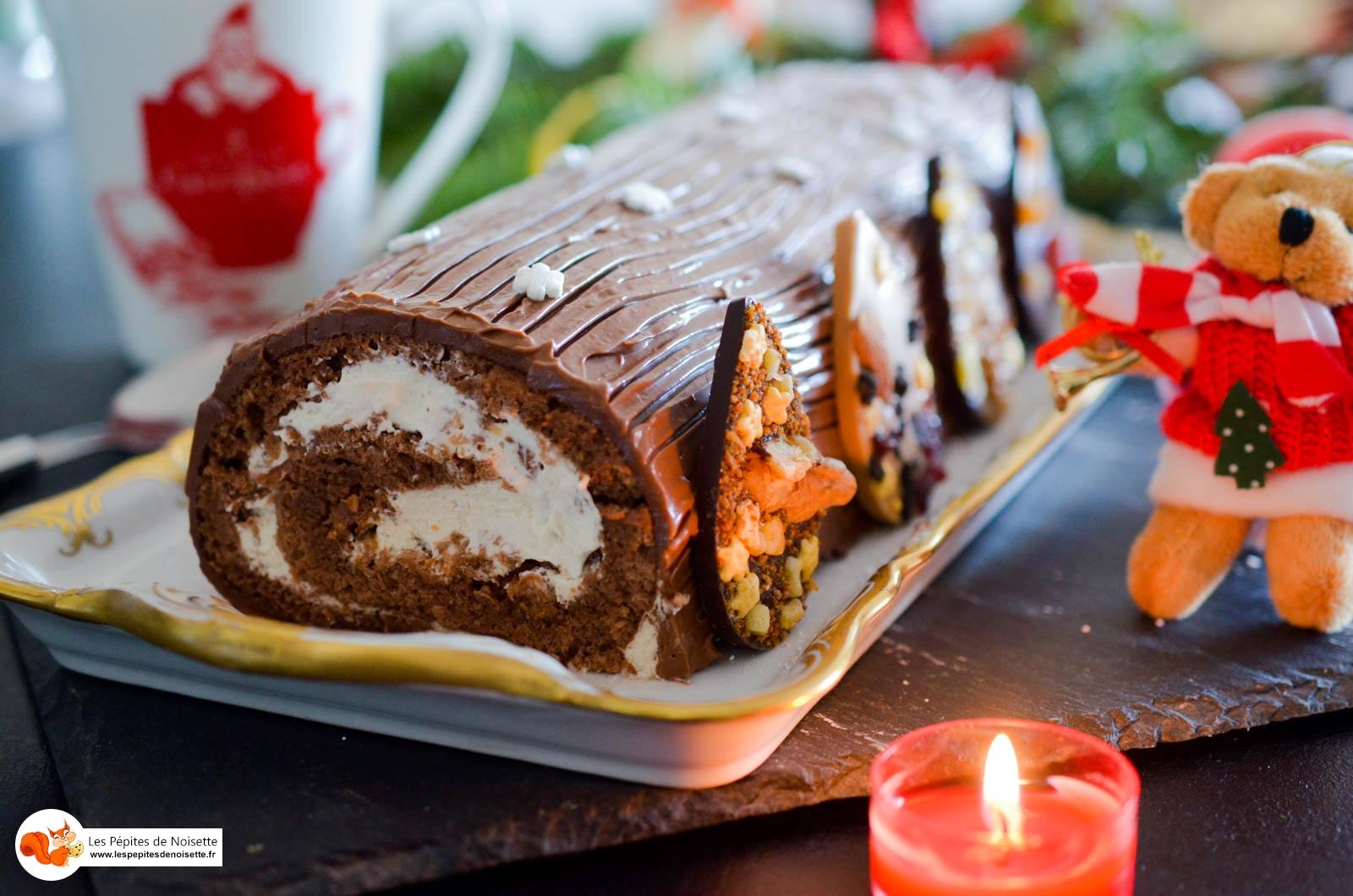 Buche Chocolat Praliné Noel 2015 (12 Sur 17)