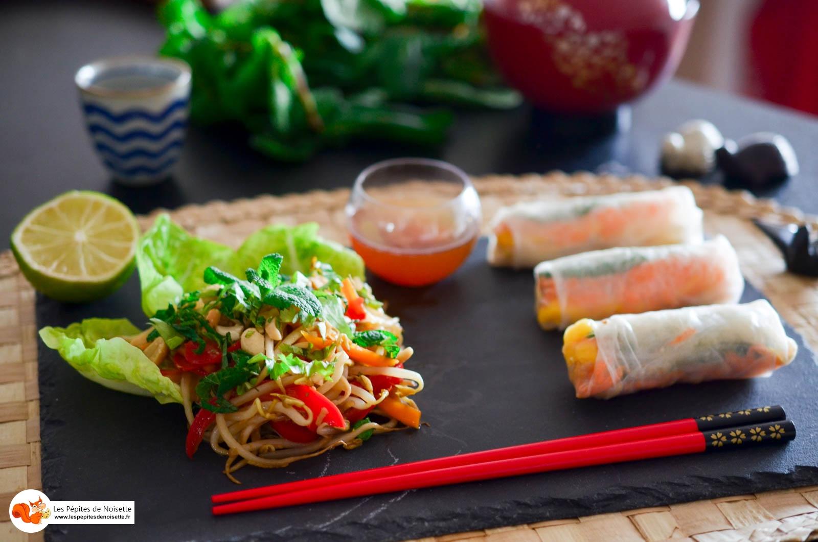 Poelée Légumes Rouleaux Printemps Mangue Cacahuete (7 Sur 9)