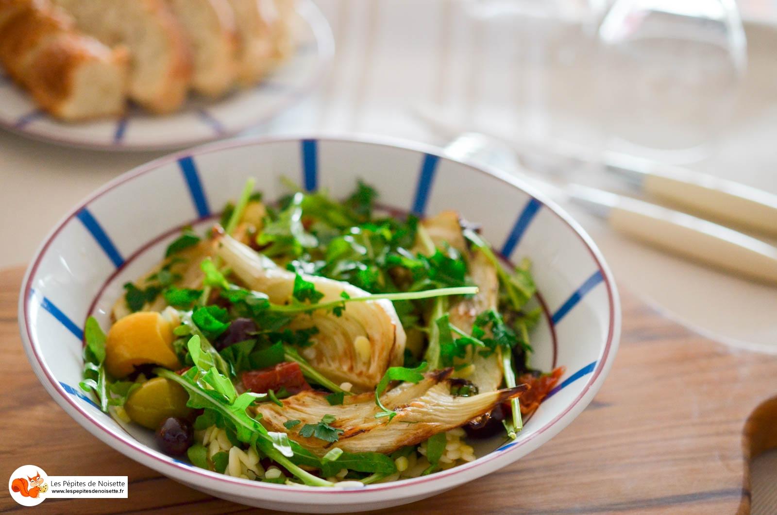 Salade Fenouil Roti Tomates Séchées Olives (6 Sur 7)