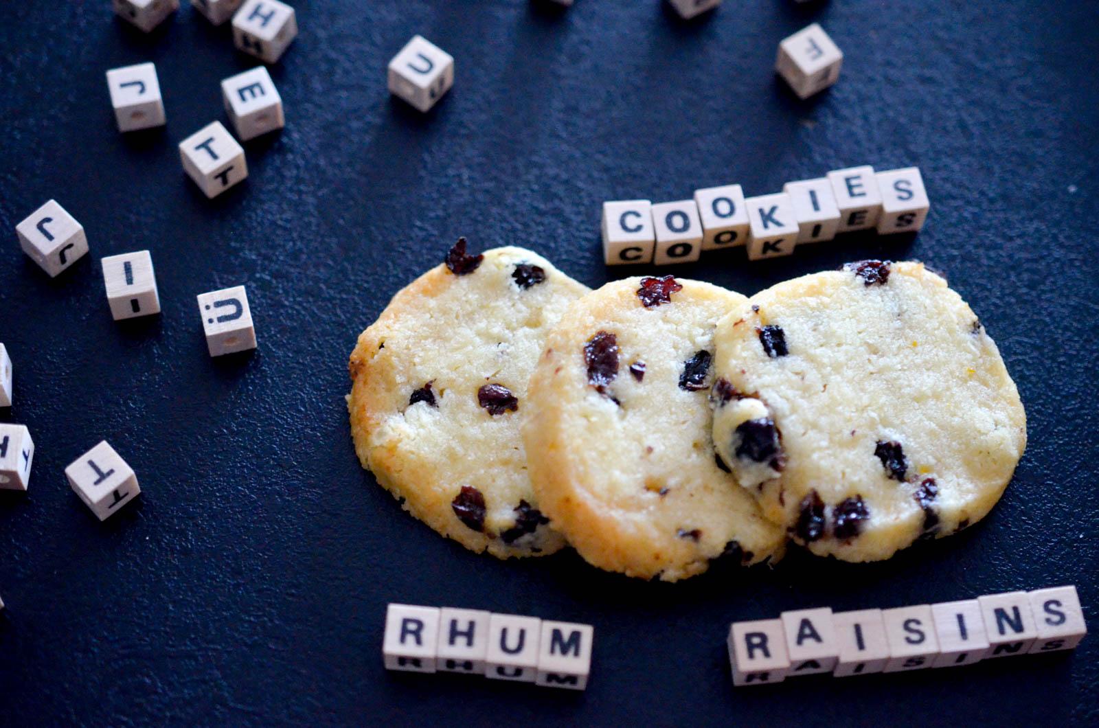 Shortbreads rhum-raisins