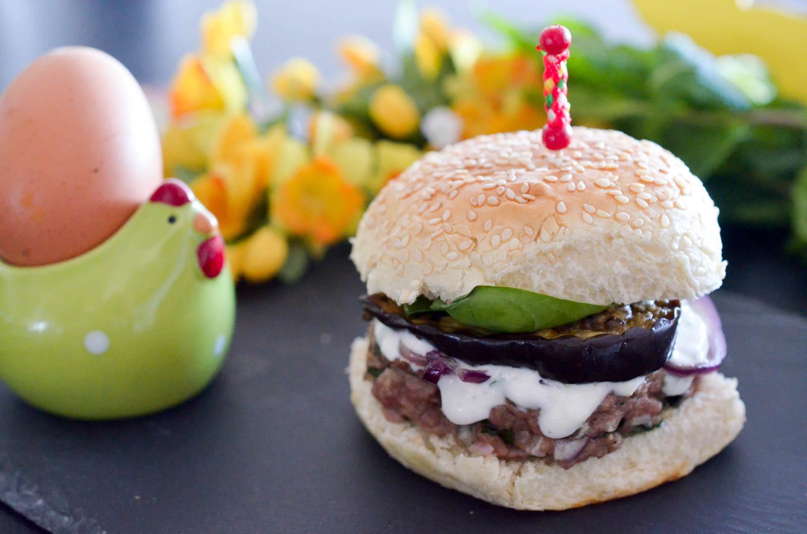 Burger Agneau Aubergine Yaourt Menthe (8 Sur 11)