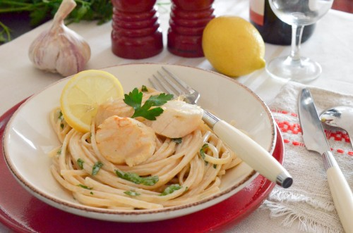 Linguine aux Saint-Jacques