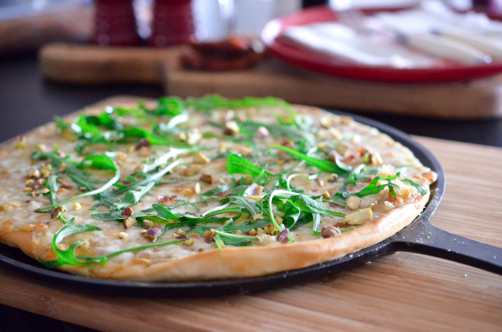 Pizza Blanche Mozzarella Pistache (6 Sur 10)