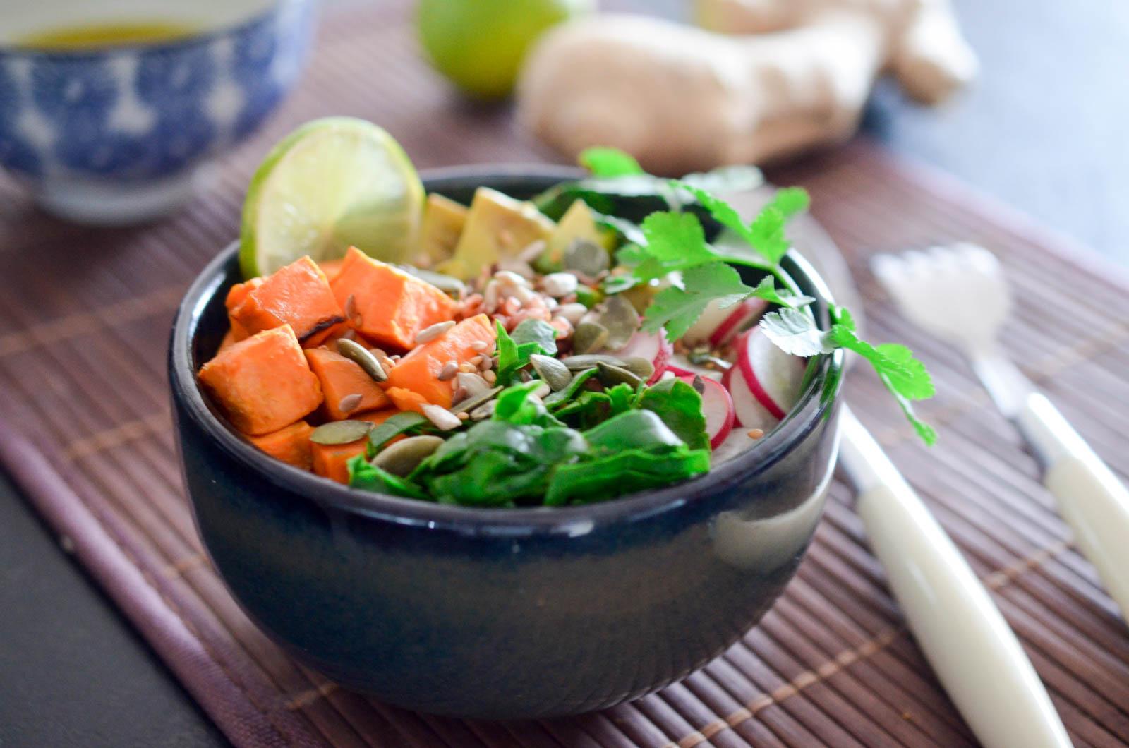 Buddha Bowl Végétarien Riz Rouge (7 Sur 8)