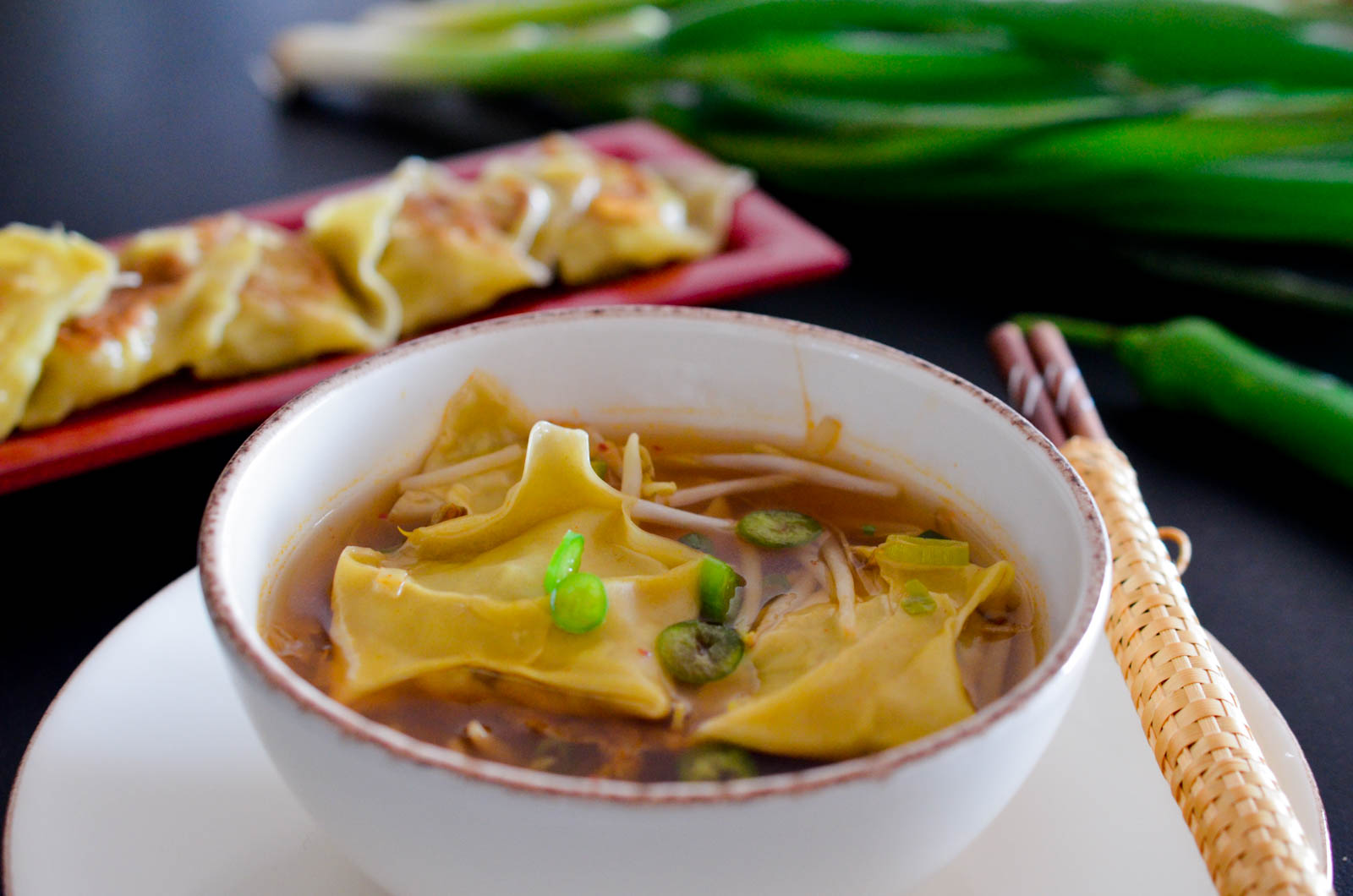 Mandu Bouillon Ravioles Coréennes Végétariennes (15 Sur 15)