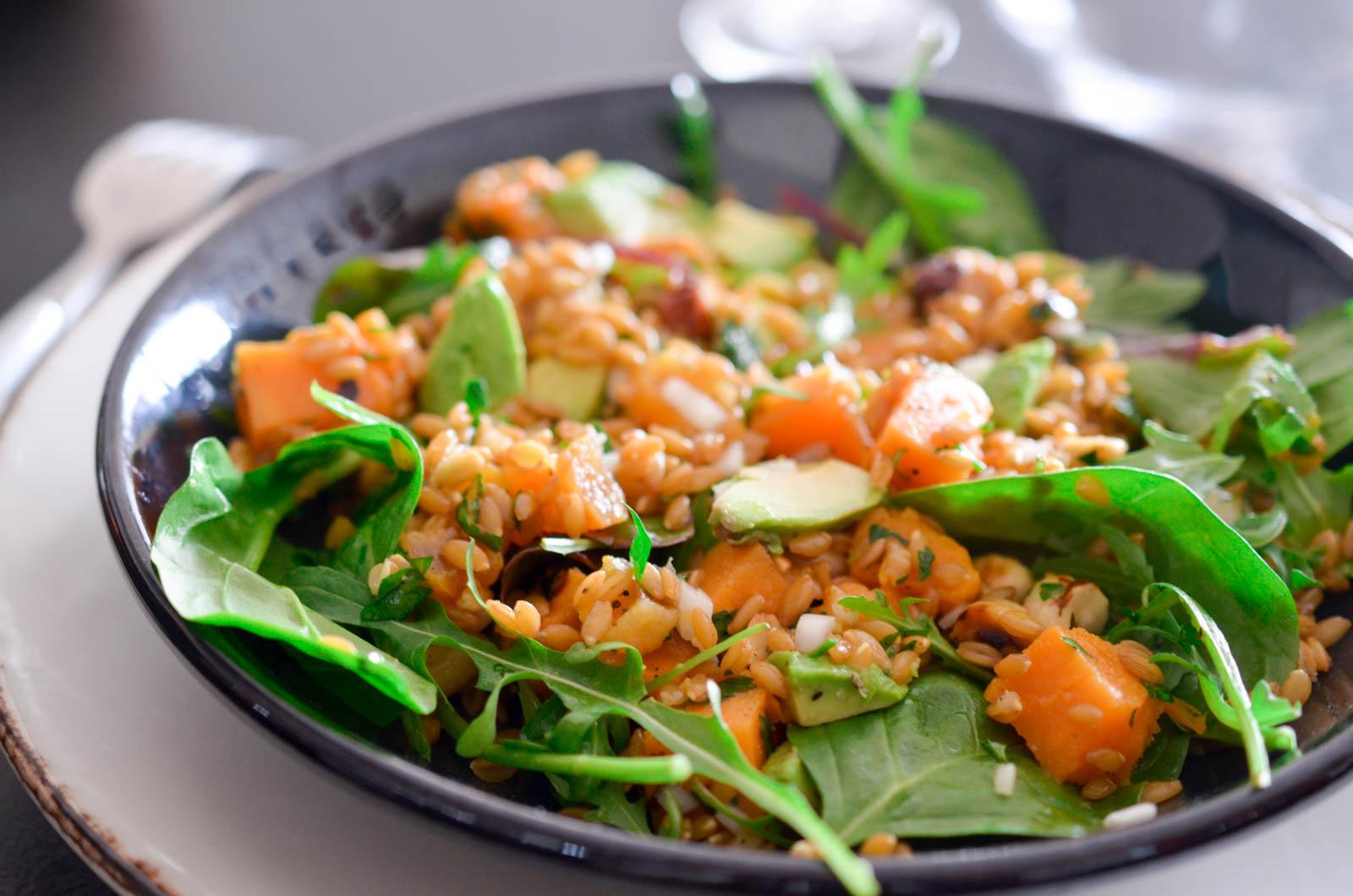 Salade Petit Epeautre Noisettes Huile D'olive (8 Sur 8)