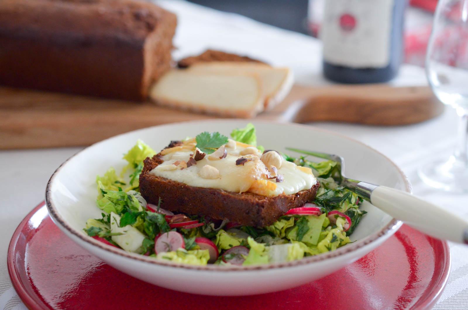 Tartines Pain D'épices Salade Herbes (8 Sur 8)