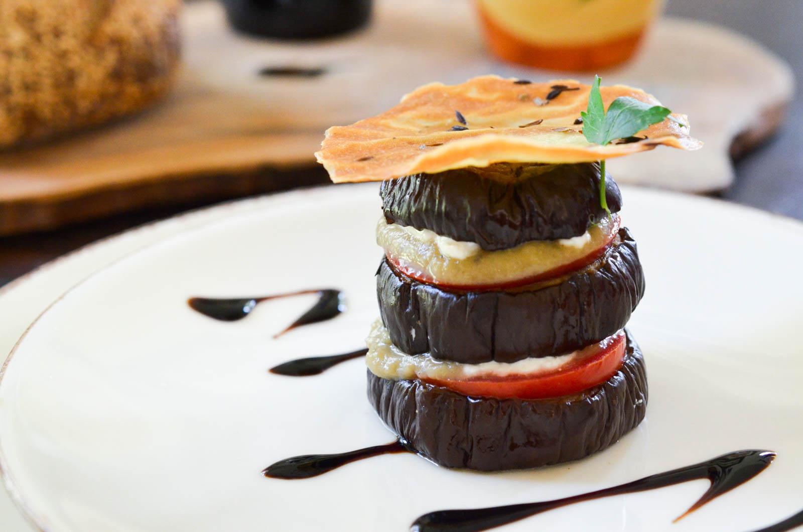 Millefeuille Aubergines Burrata Caviar Tuiles (7 Sur 7)