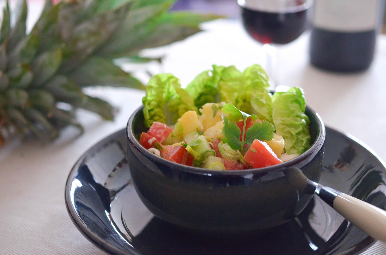 Salade Tahitienne Ananas Végétarien (8 Sur 8)