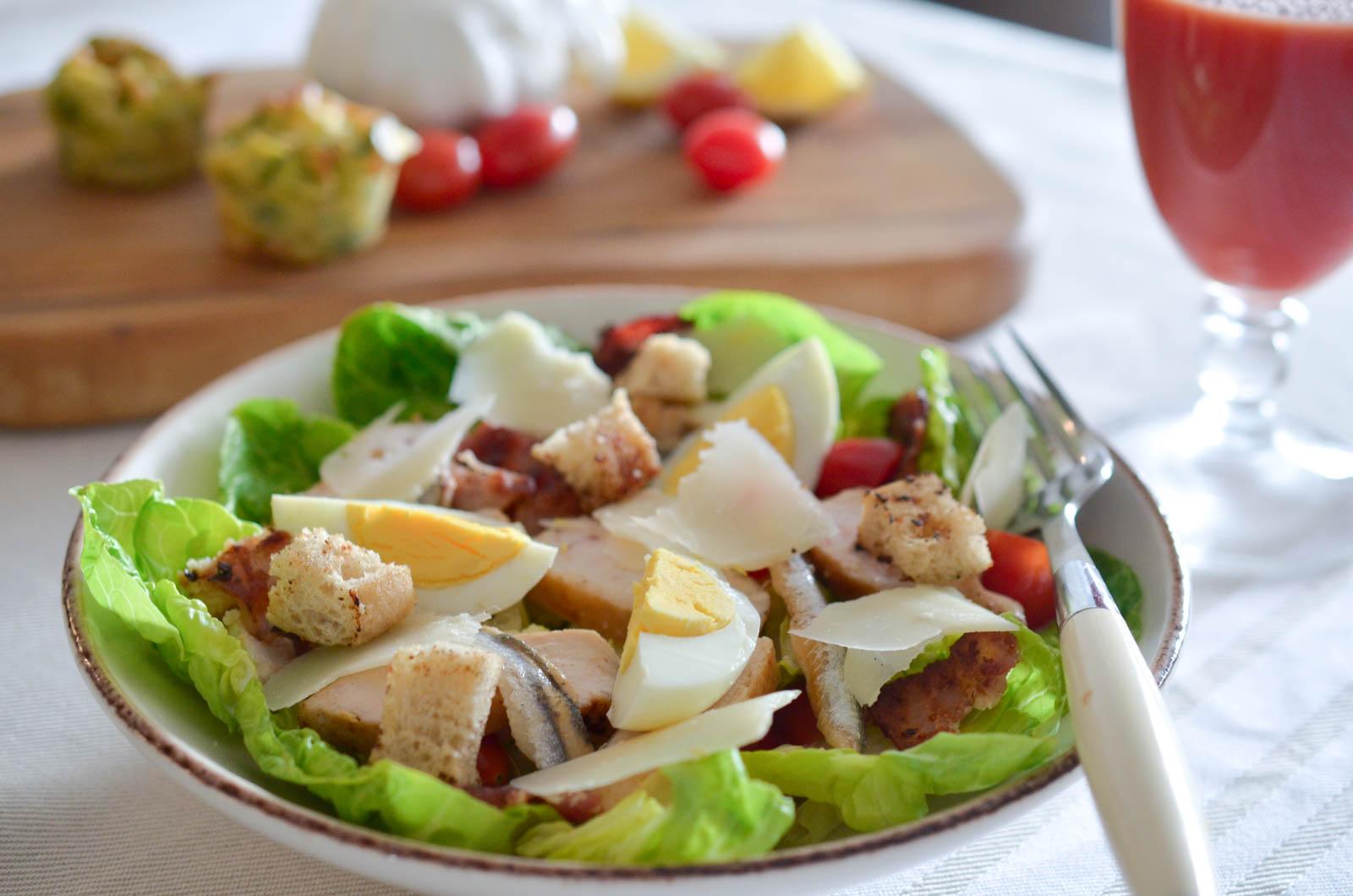 Salade Caesar Poulet (8 Sur 8)