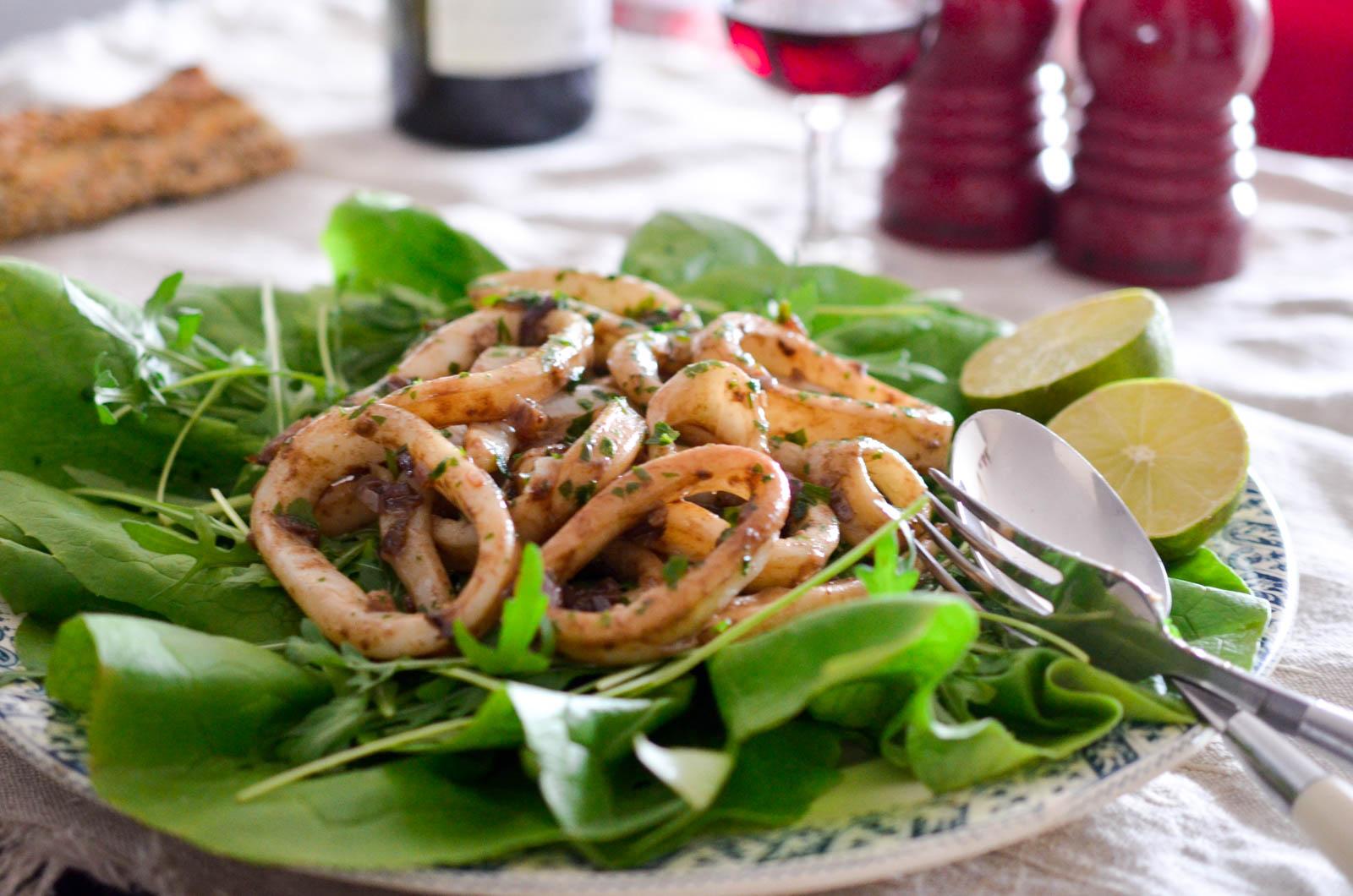 Seiches Salade Balsamique Calmars (4 Sur 5)
