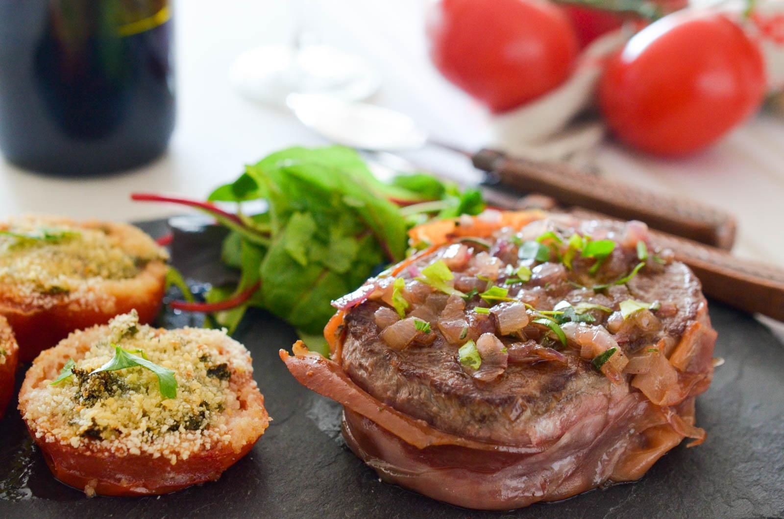 Steak Prosciutto Tomates Provencales (7 Sur 7)