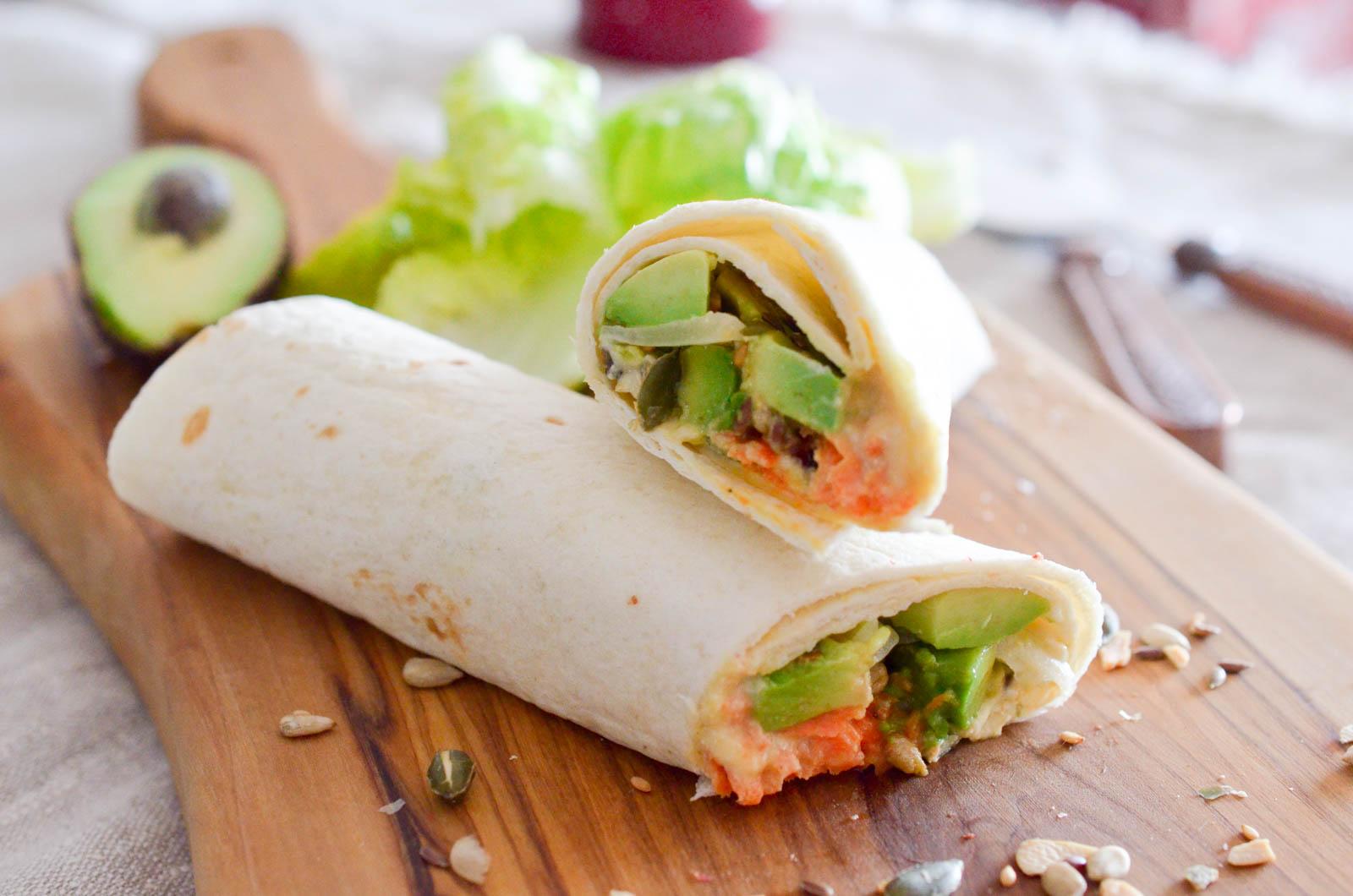 Veggie Wrap Avocat Houmous (8 Sur 8)