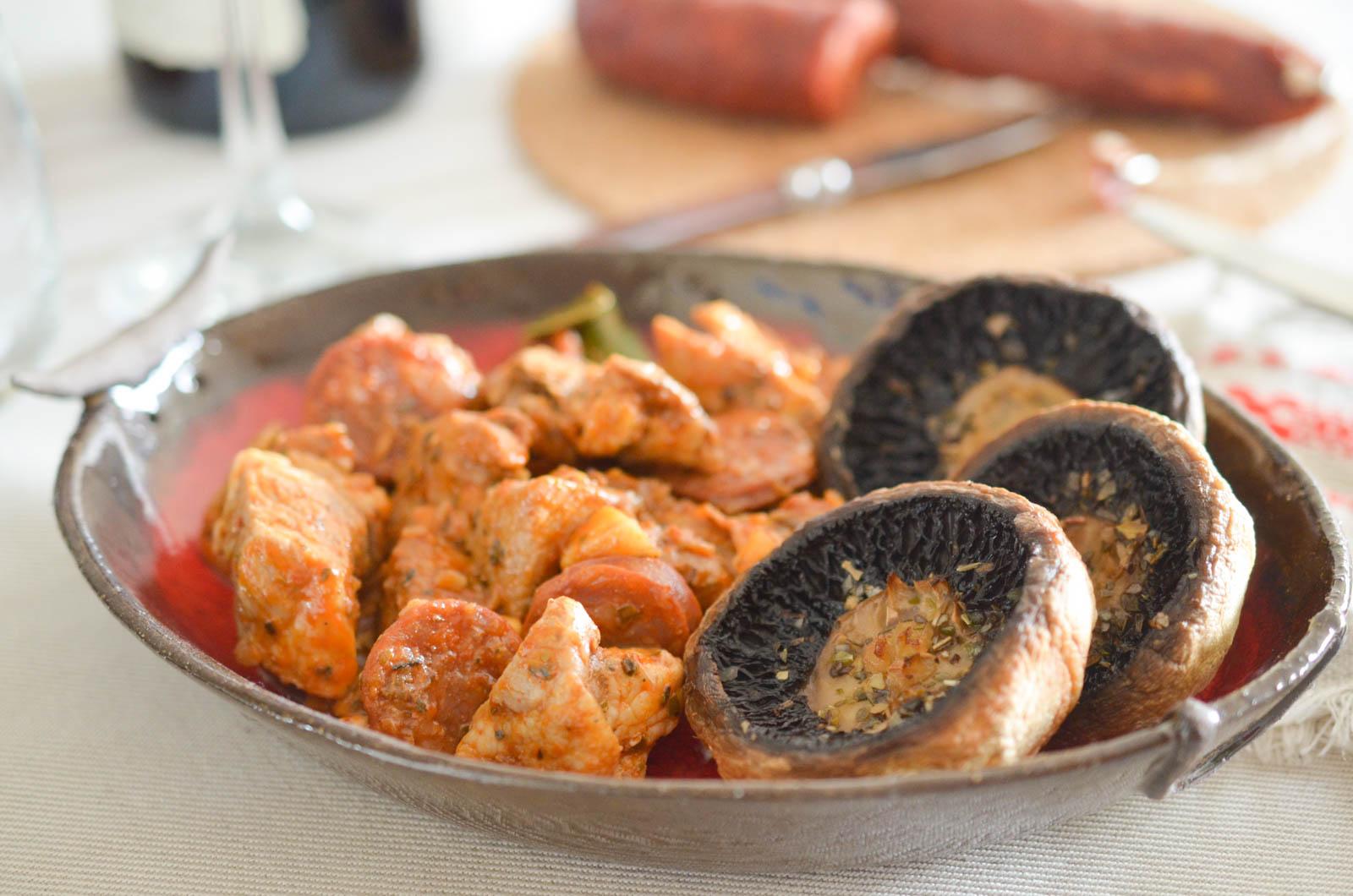 Alloyau Porc Chorizo Champignons (8 Sur 9)