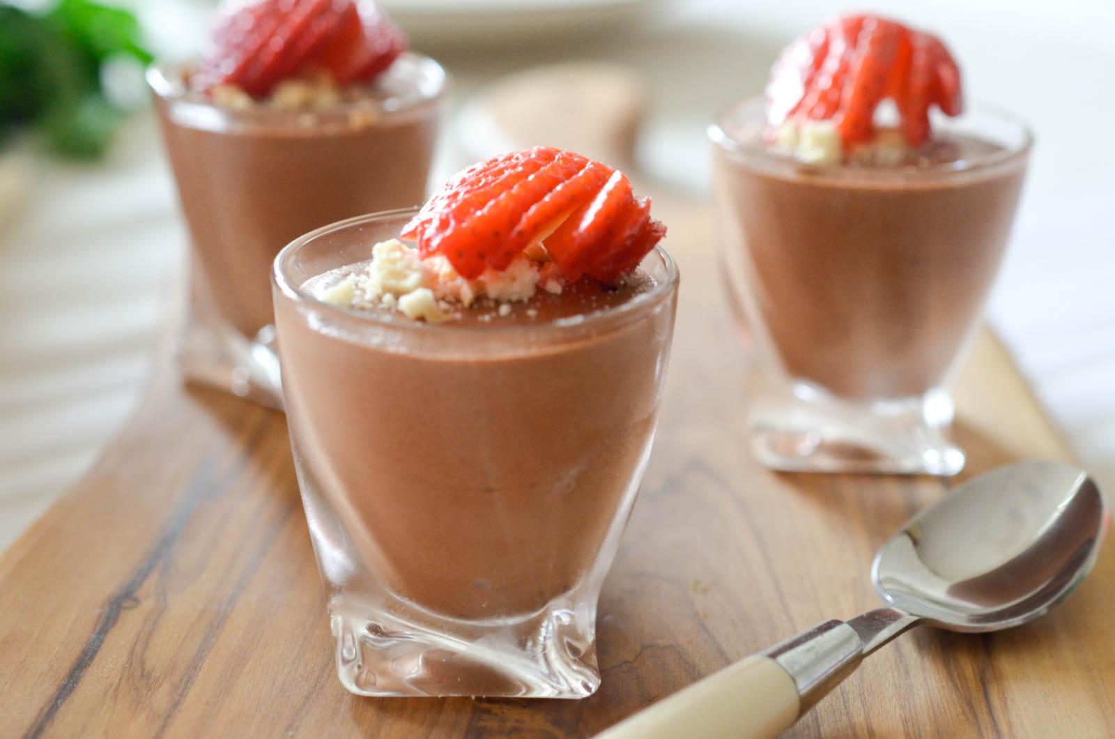Mousse au chocolat vegan ... version pois chiches