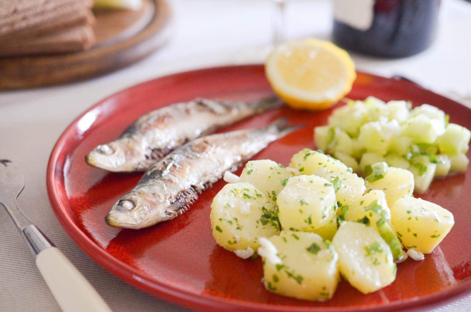 Sardines Grillées Pommes De Terre Ail Concombre (6 Sur 7)