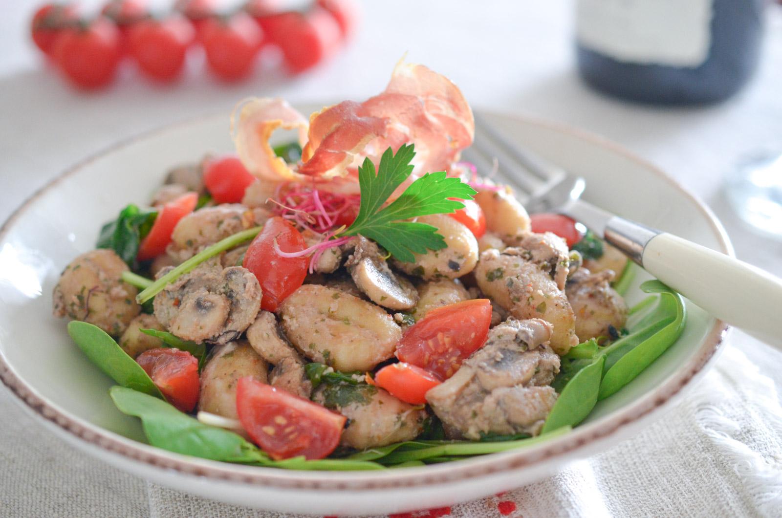 Gnocchis Champignons Pesto Noix Pancetta (5 Sur 6)