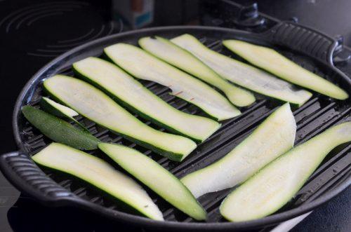 Croque Monsieur végétarien courgettes emmental
