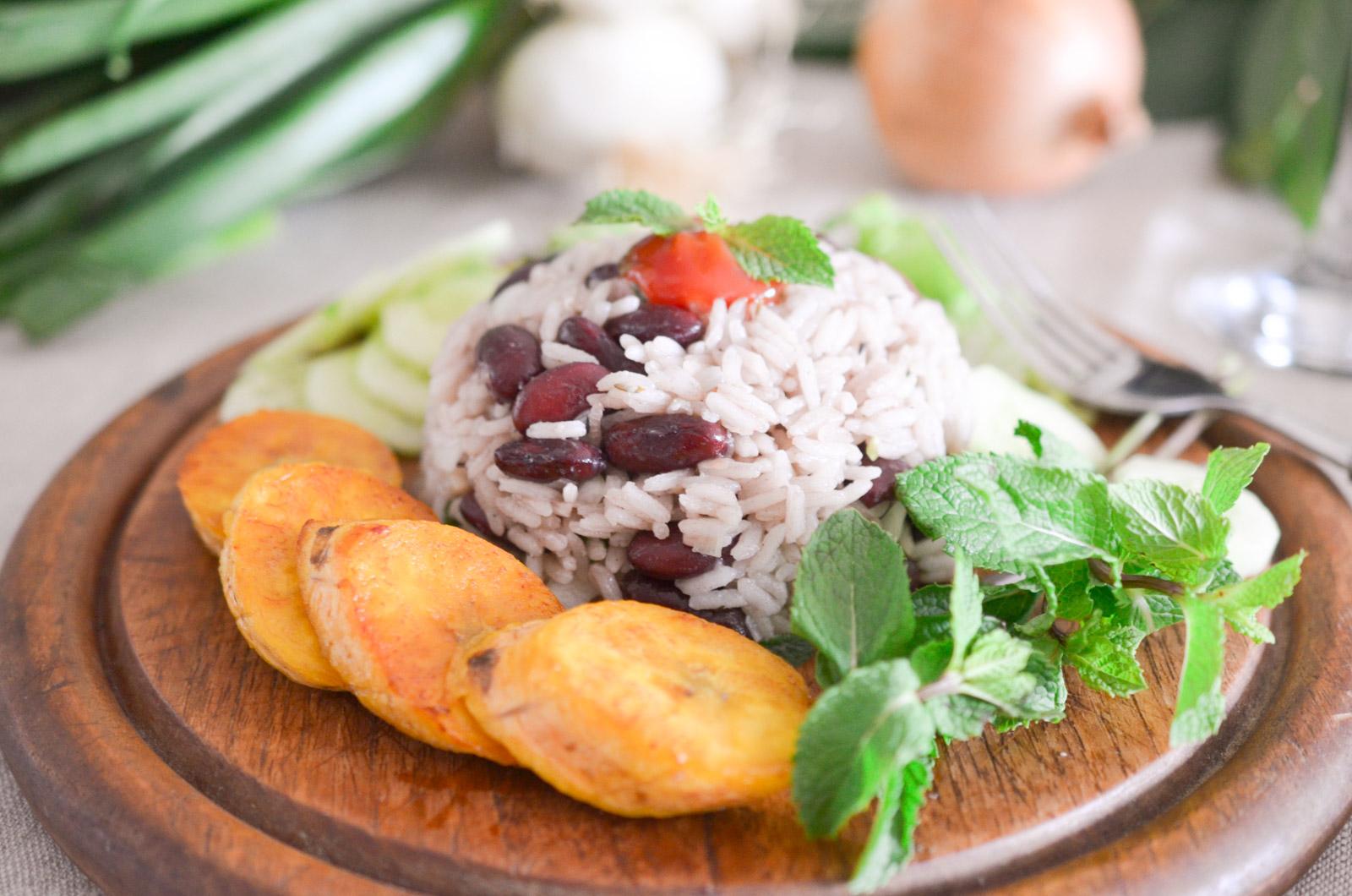 Riz Haricots Rouges Banane Plantain Antilles (10 Sur 13)