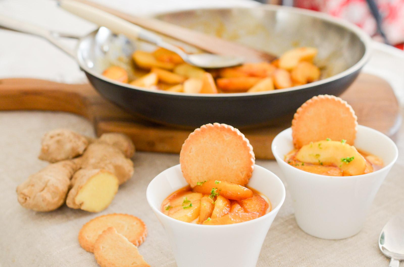 Pommes Caramel Beurre Sale Gingembre Fromage Blanc 6 Sur 9