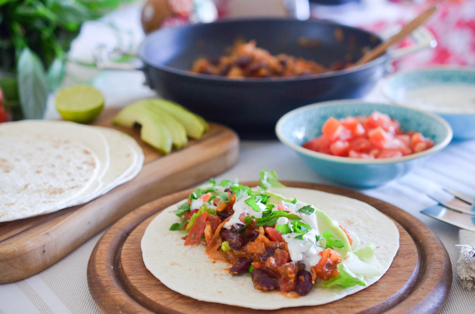 Tacos Poulet Avocat Haricots Rouges (7 Sur 10)