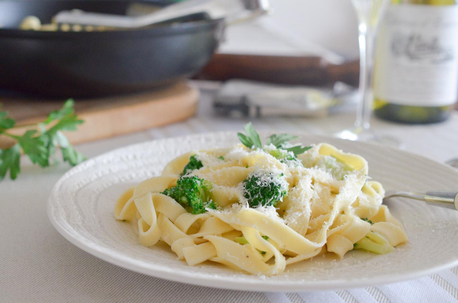 Tagliatelles Brocolis Parmesan 4 Sur 8