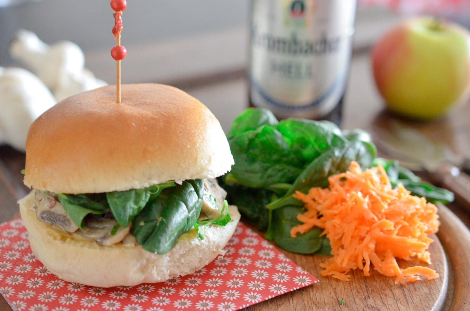 Burger Vegetarien Champignon Sauce Moutarde 2 Sur 4