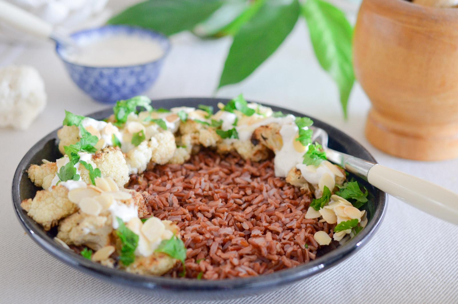 Chou Fleur Roti Cumin Sauce Yaourt 4 Sur 6