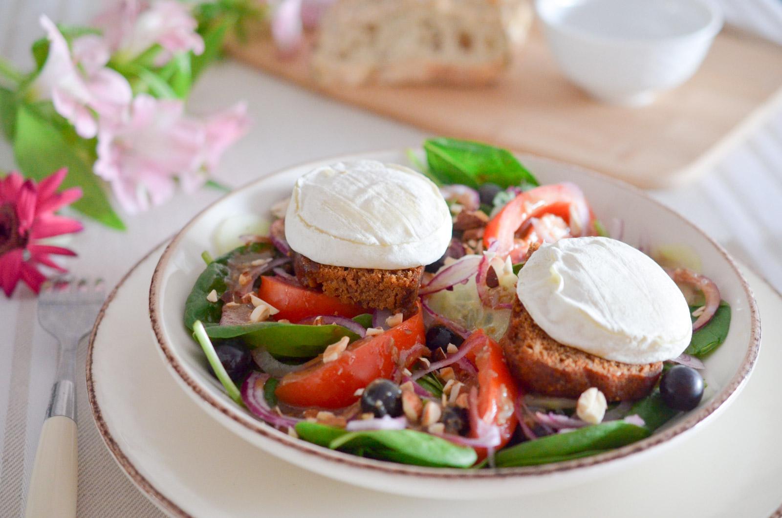Salade Tartine Chevre Raisins 1 Sur 7