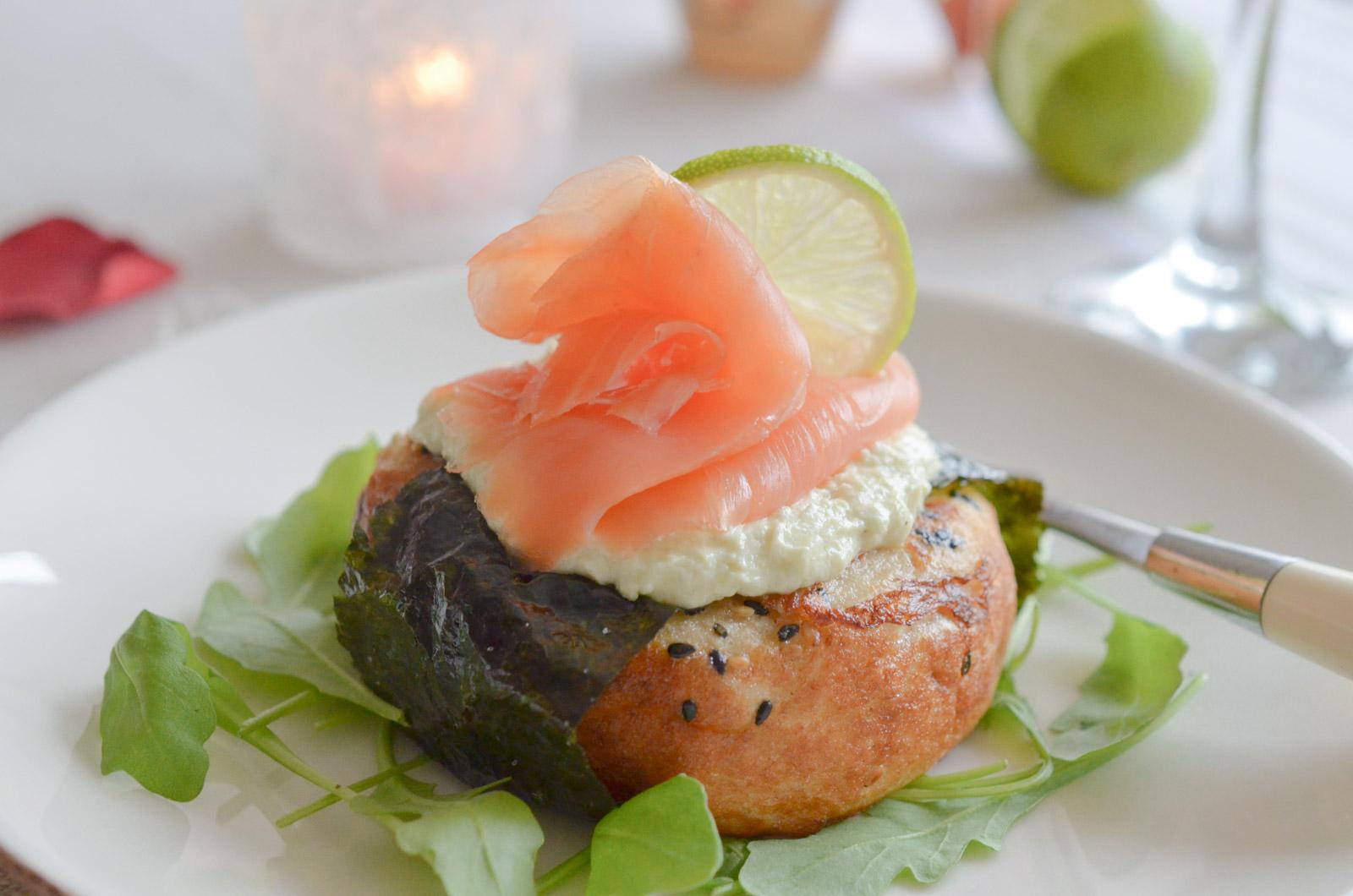 Muffins façon pain perdu croustillant au Saumon Fumé Labeyrie et sa sauce wasabi