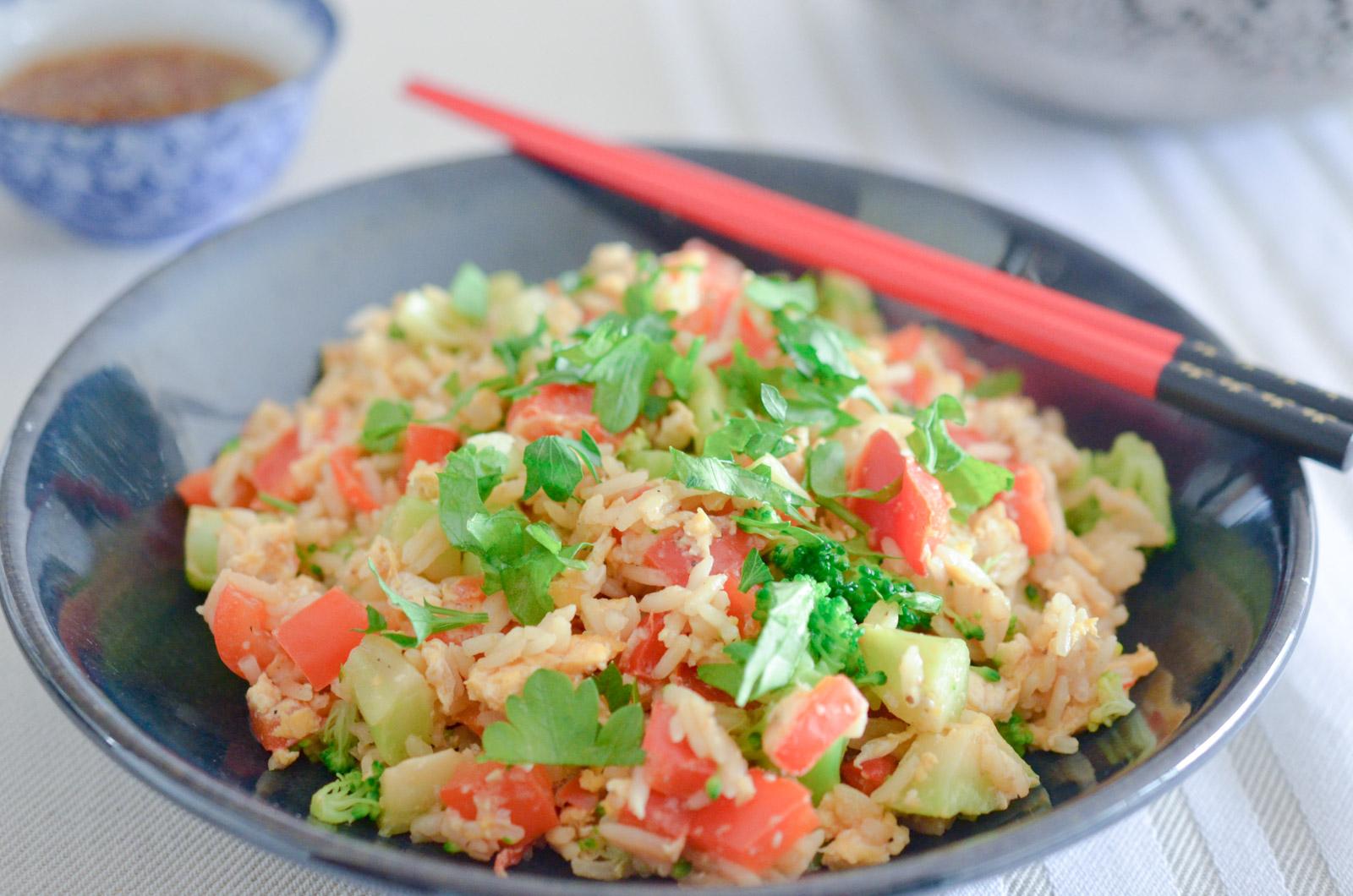 Riz sauté végétarien à la Thaï
