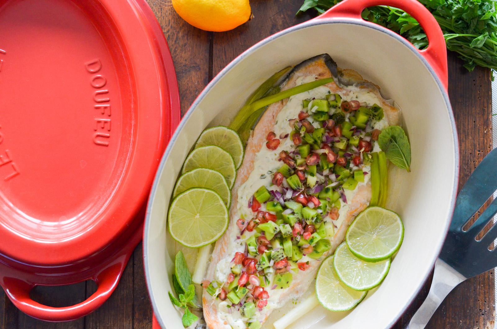 Saumon Crevettes Salsa Kiwi Doufeu 4 Sur 5