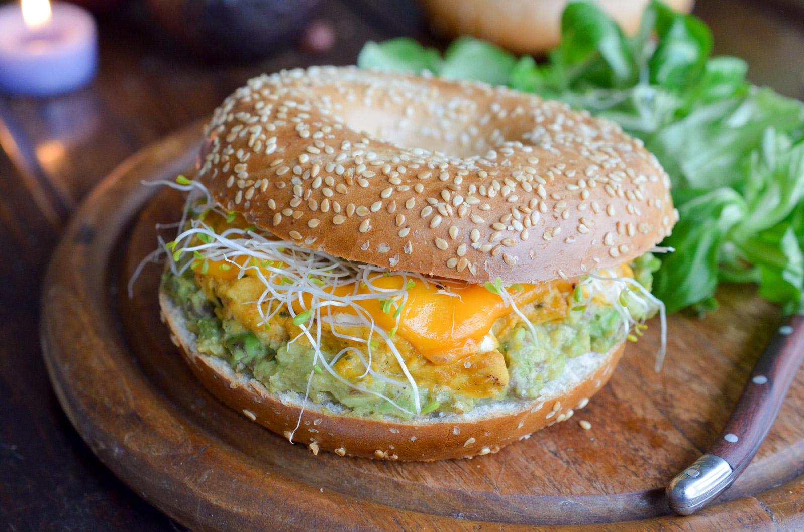 Bagel Poulet Avocat Mimolette 1 Sur 7