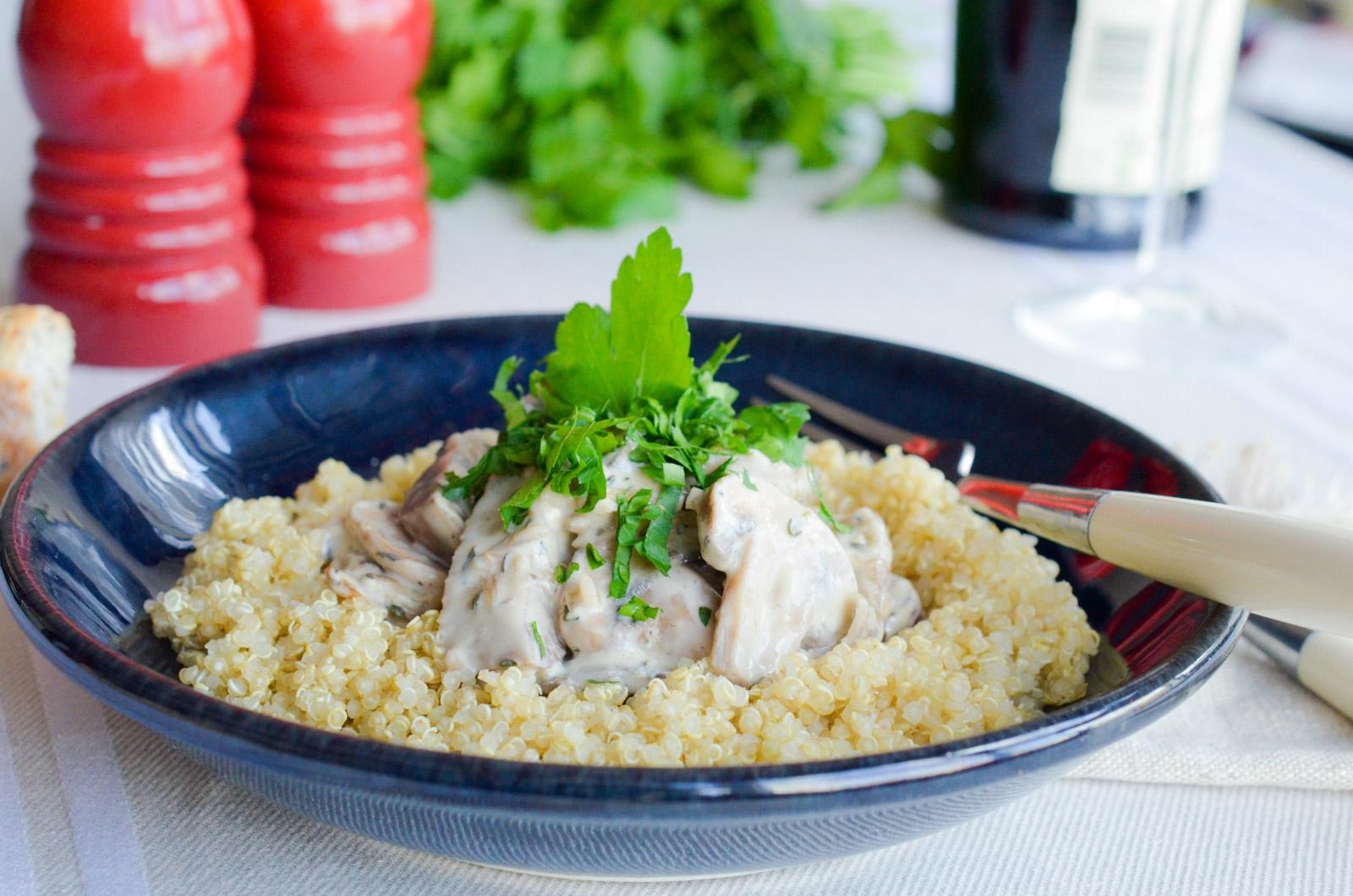 Faux Poulet Creme Quinoa Seitan 2 Sur 5